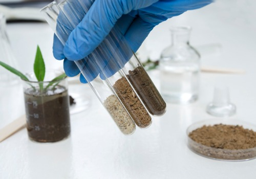 A lab where they are performing Soil Testing