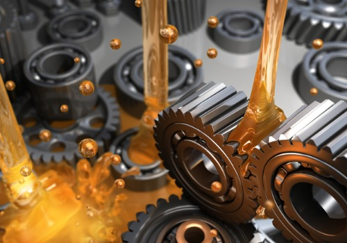 Oils and Lubricants being applied to cogs and gears